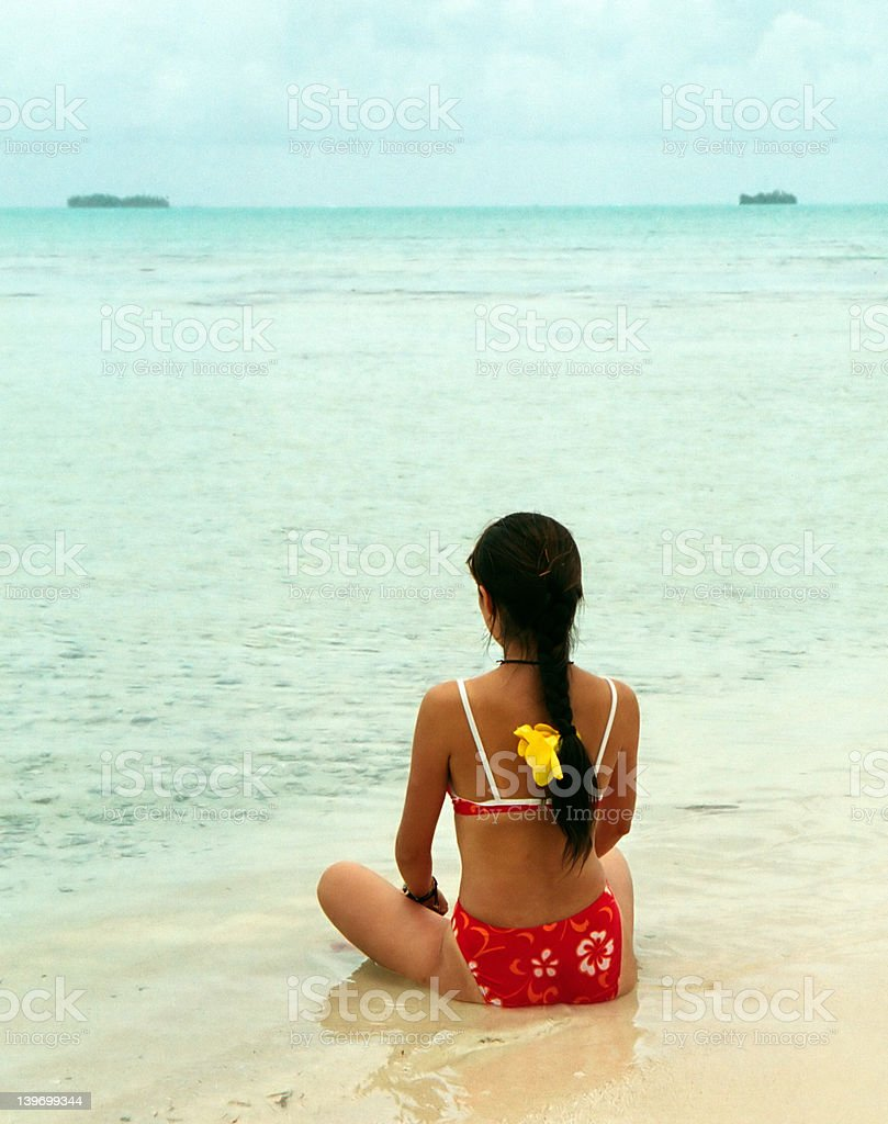 Lonely on the Beach royalty-free stock photo