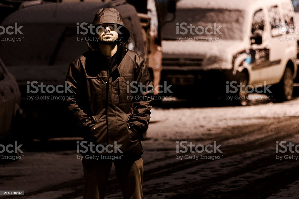 Lonely on the street royalty-free stock photo