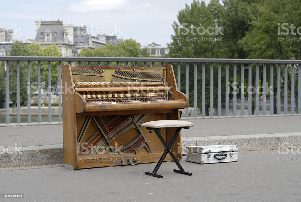 Lonely Piano royalty-free stock photo