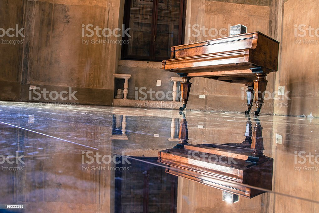Lonely piano stock photo