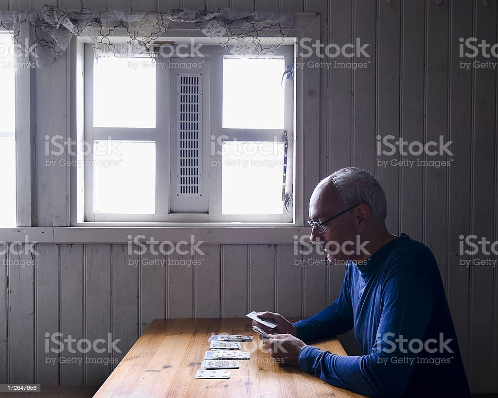 Solitaire stock photo