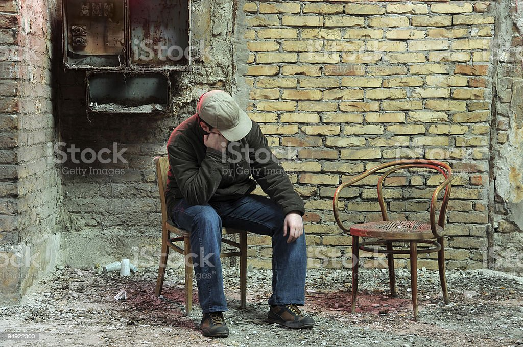 Lonely royalty-free stock photo