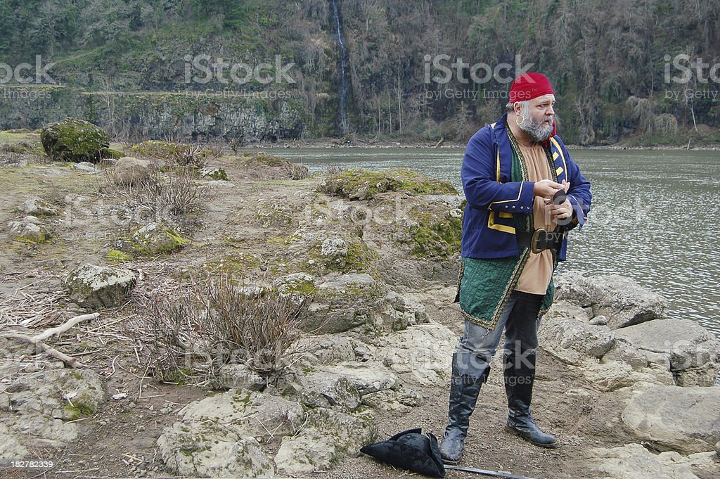 Lonely Pirate stock photo