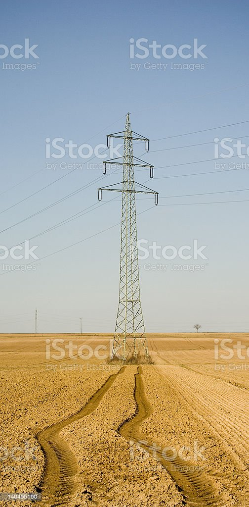 lonely power pole royalty-free stock photo