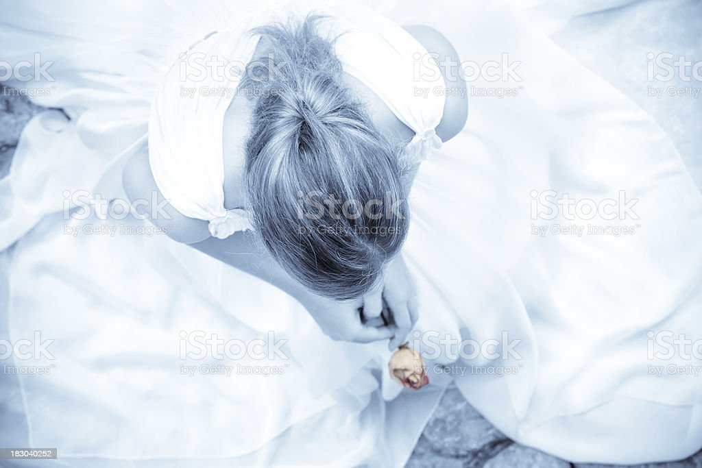 lonely princess royalty-free stock photo