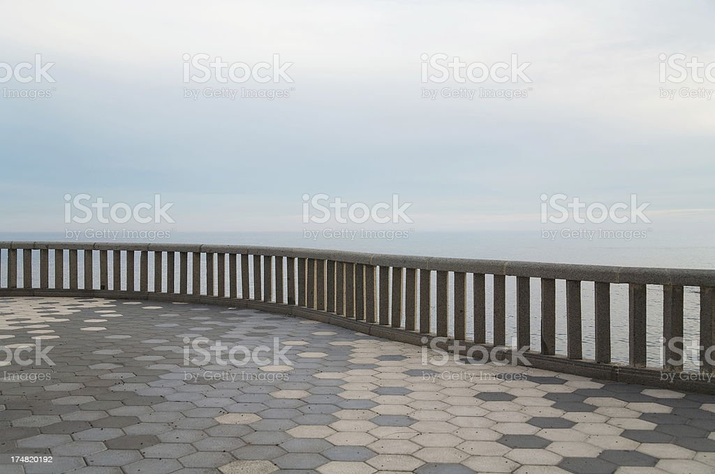 Lonely Reling stock photo