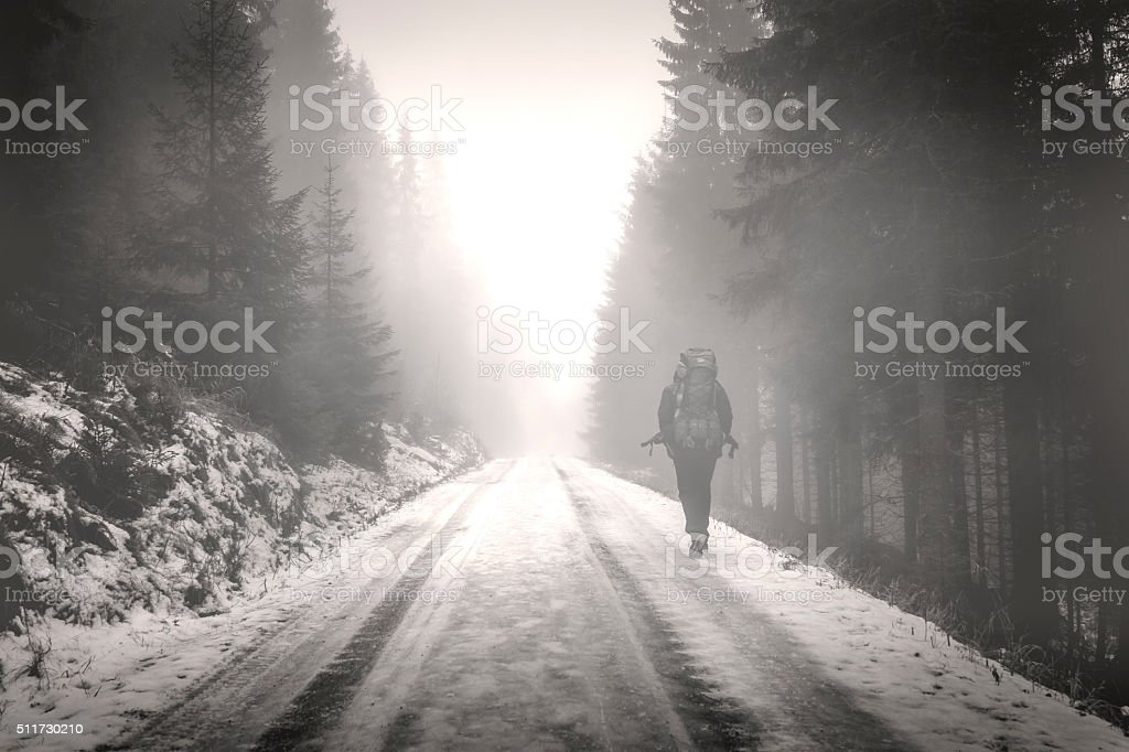 Lonely Road stock photo