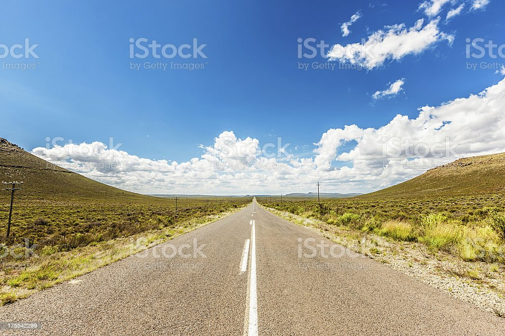Lonely Road through Nature South Africa royalty-free stock photo