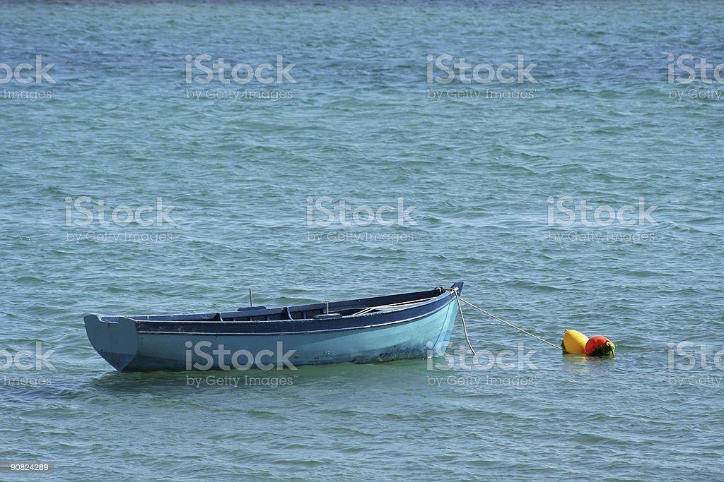 Lonely rowboat royalty-free stock photo