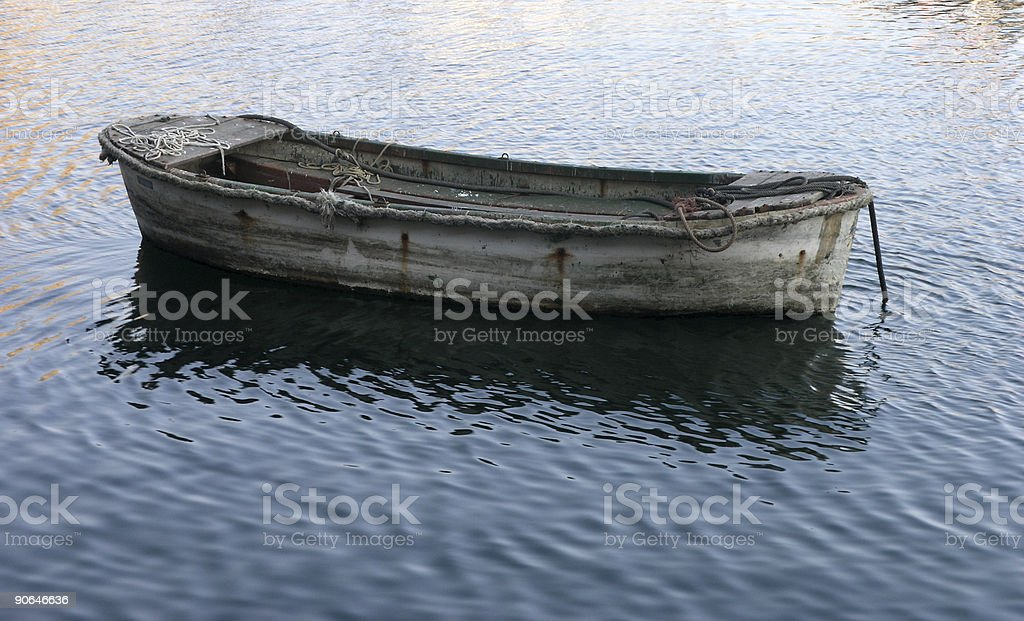 Lonely run down boat royalty-free stock photo