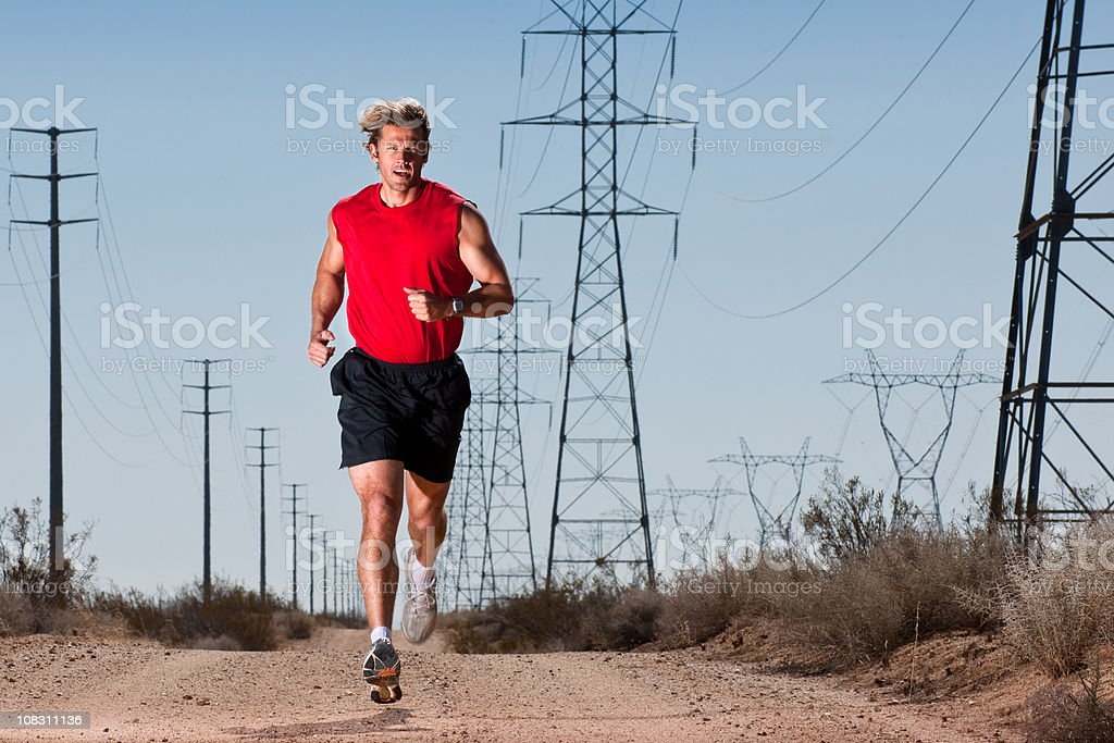 Lonely Runner stock photo