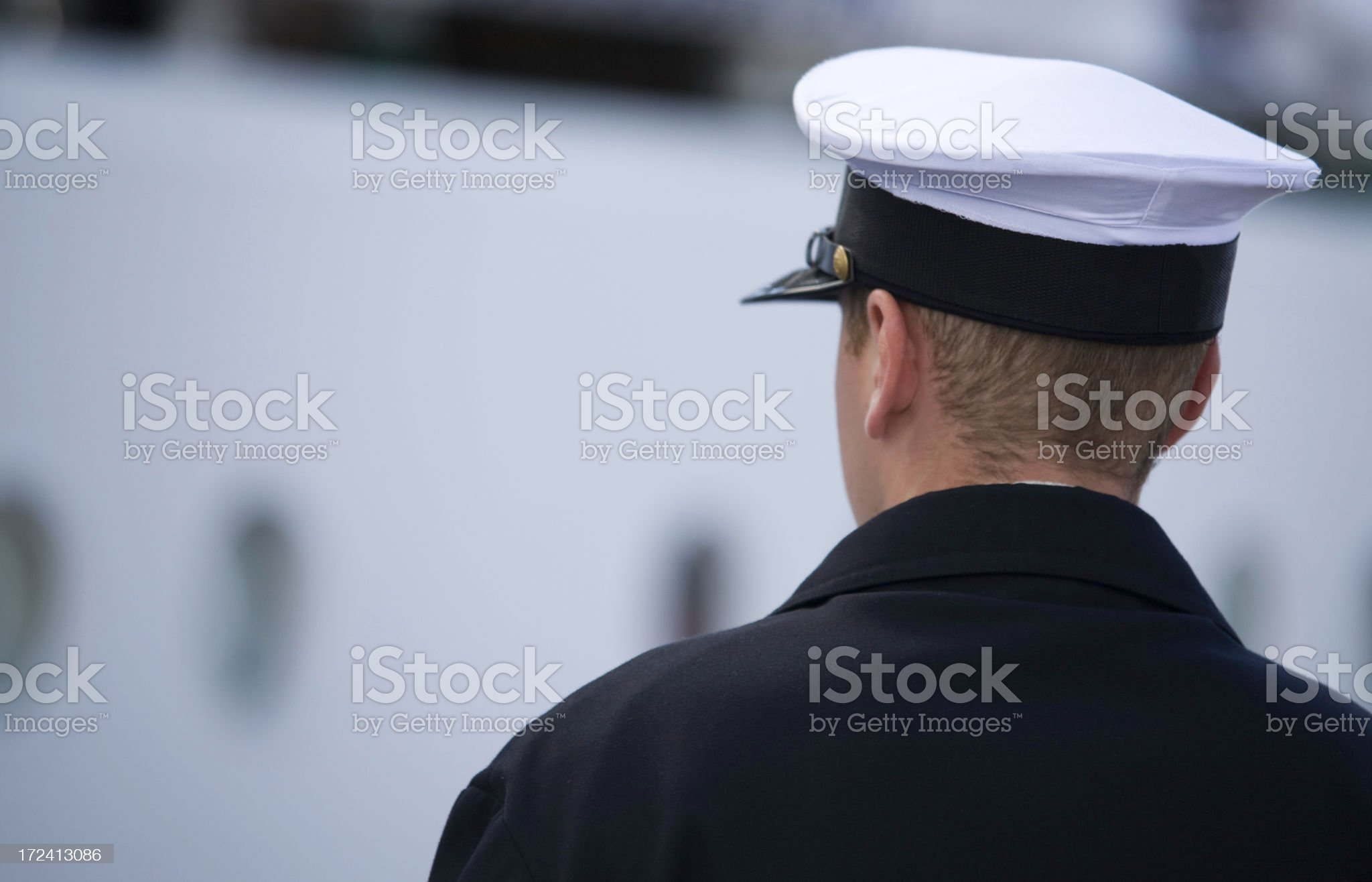 lonely sailor royalty-free stock photo