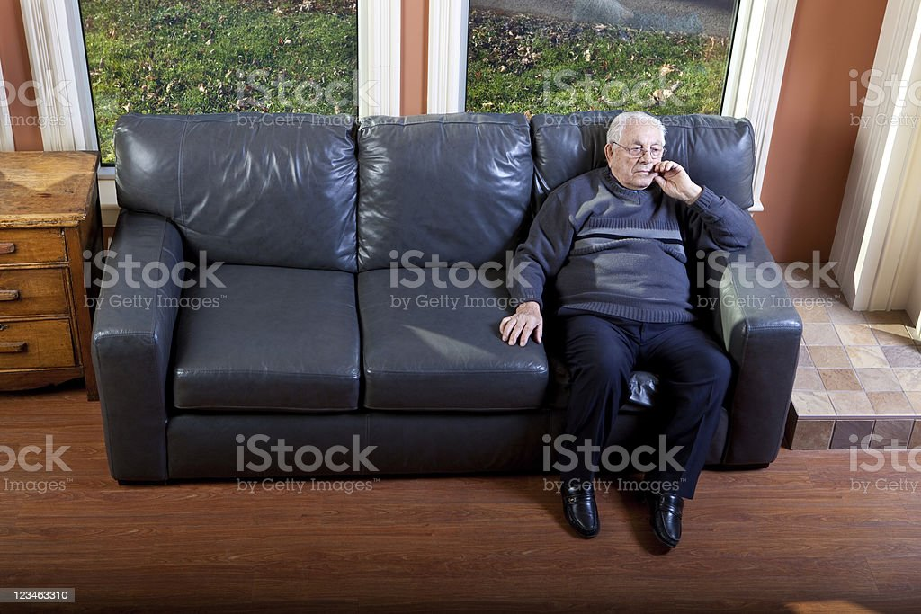 Lonely Senior Man royalty-free stock photo