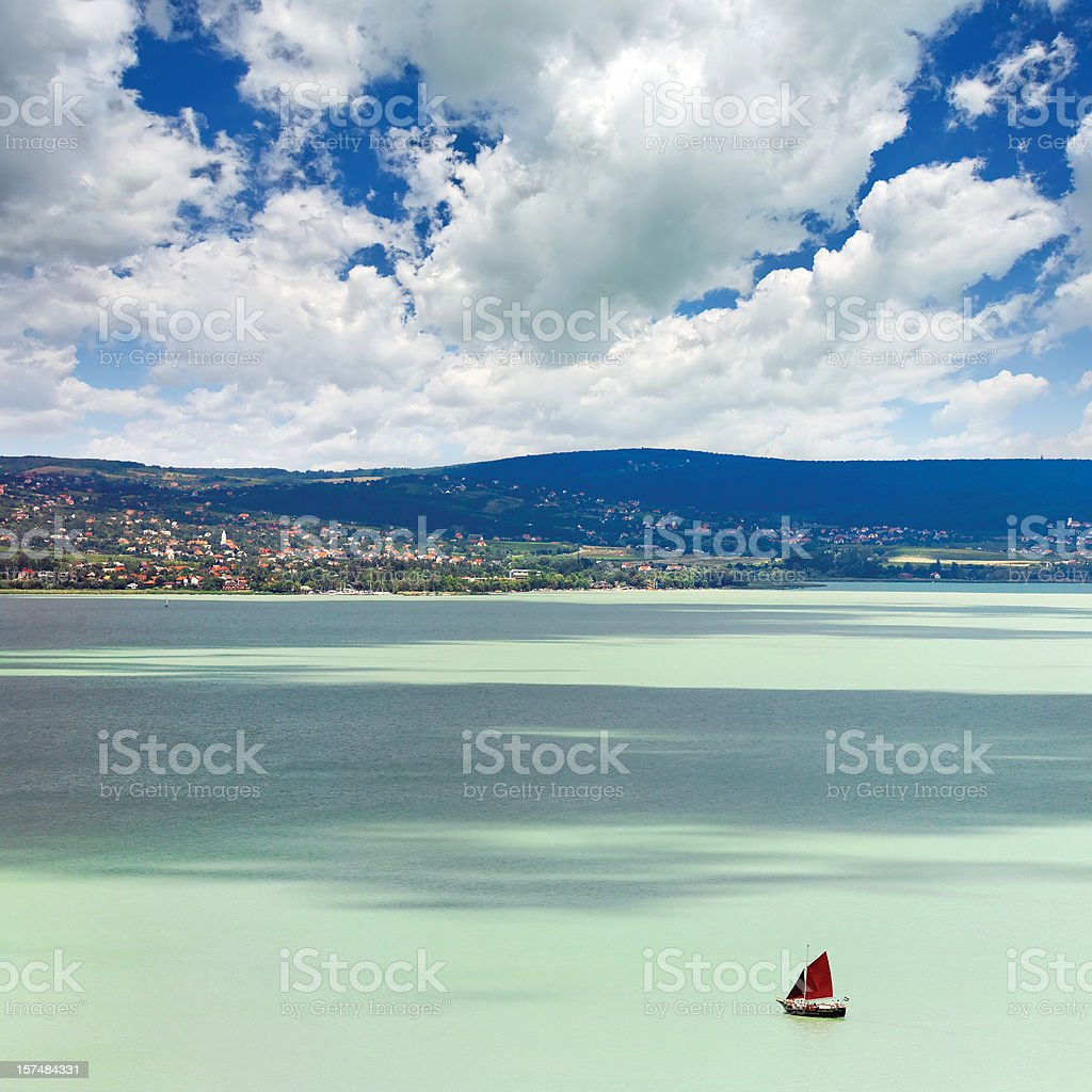 lonely ship stock photo