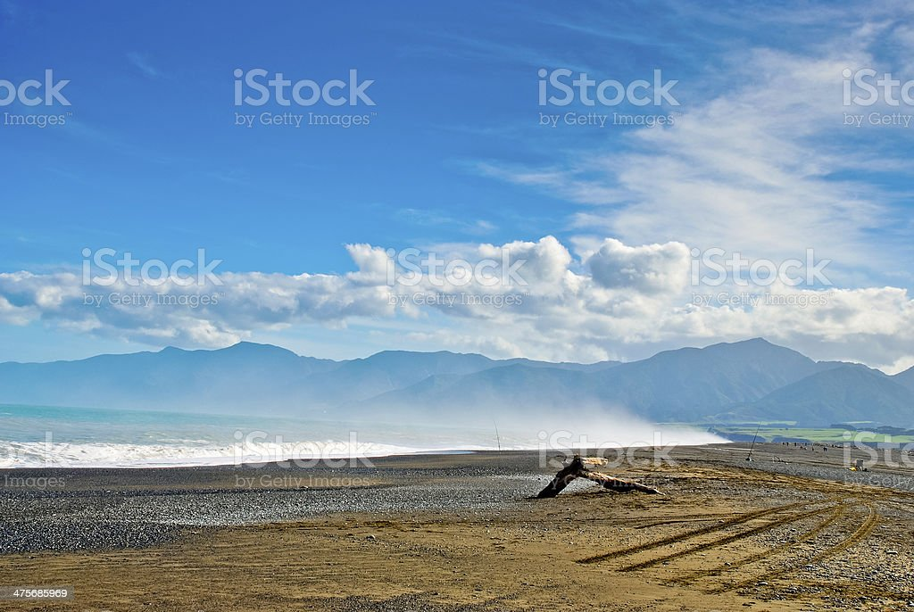 Lonely Southern Beach stock photo