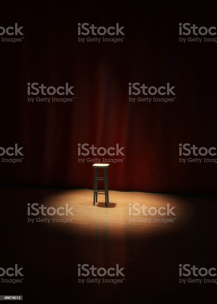 Lonely Stage Stool royalty-free stock photo