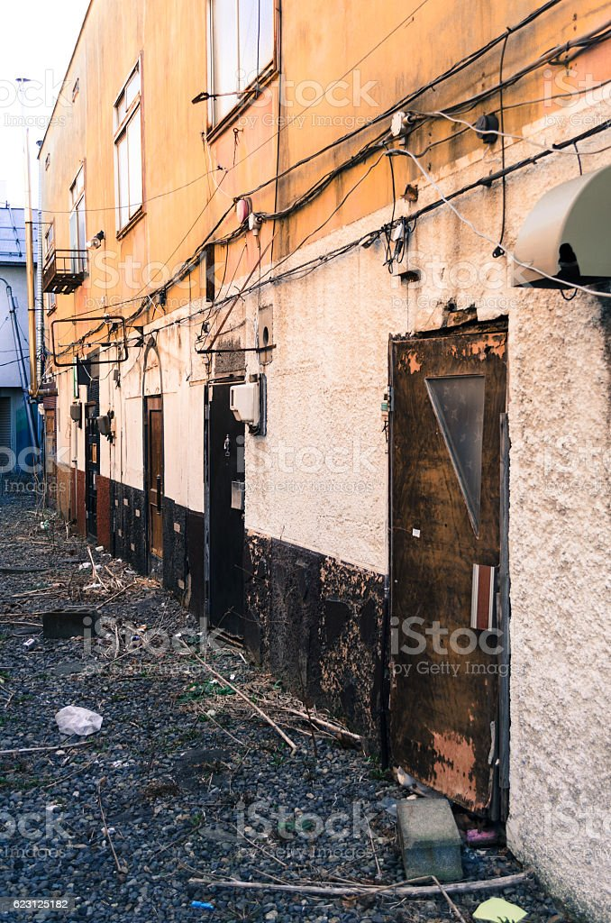 Lonely store stock photo