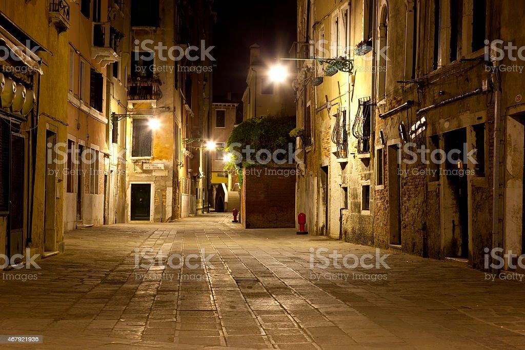 Lonely street on Venice stock photo