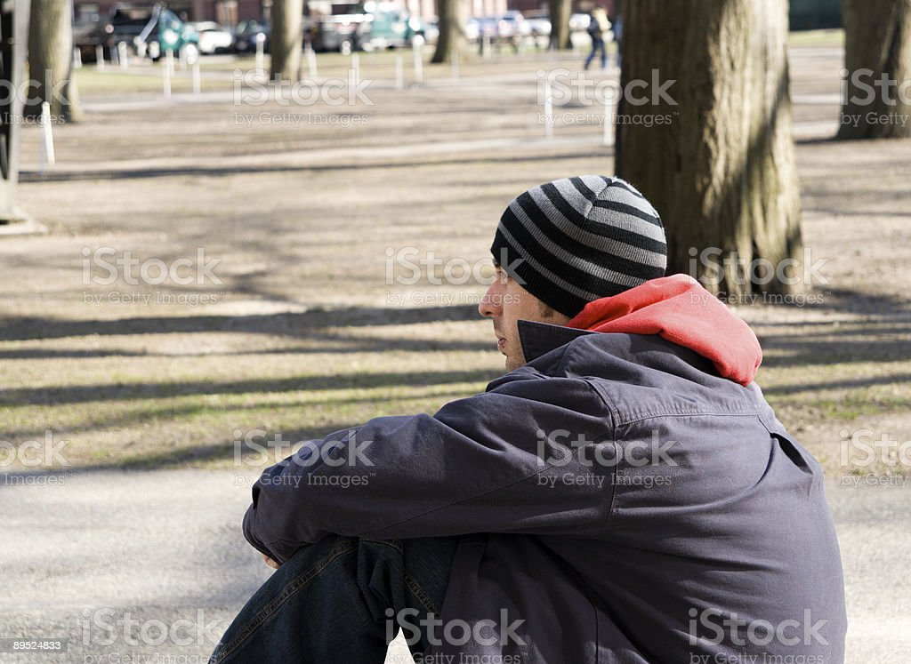 Lonely Student royalty-free stock photo