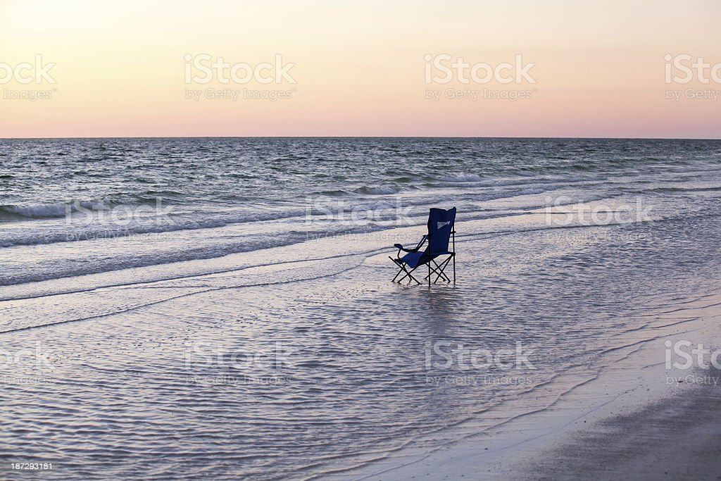 Lonely Sunset royalty-free stock photo