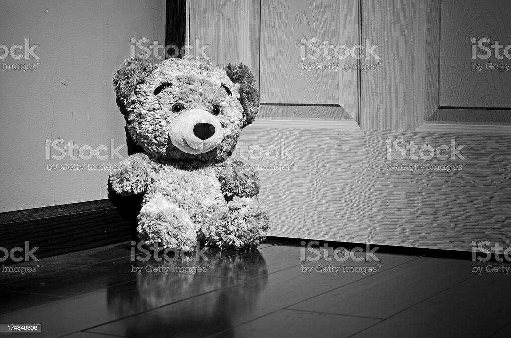 Lonely teddy bear royalty-free stock photo