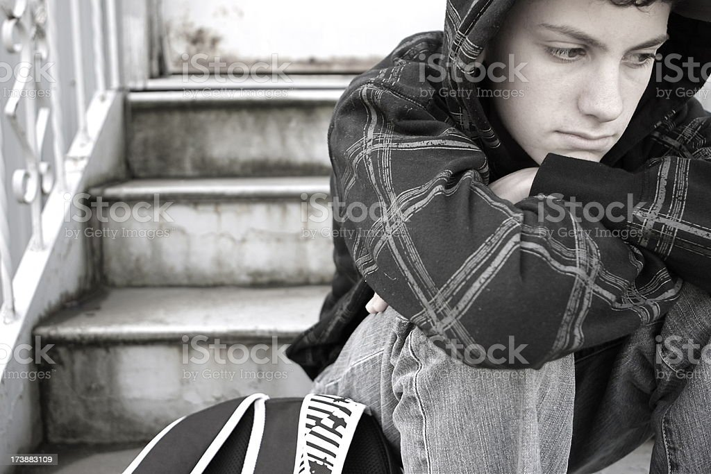 Lonely Teen stock photo