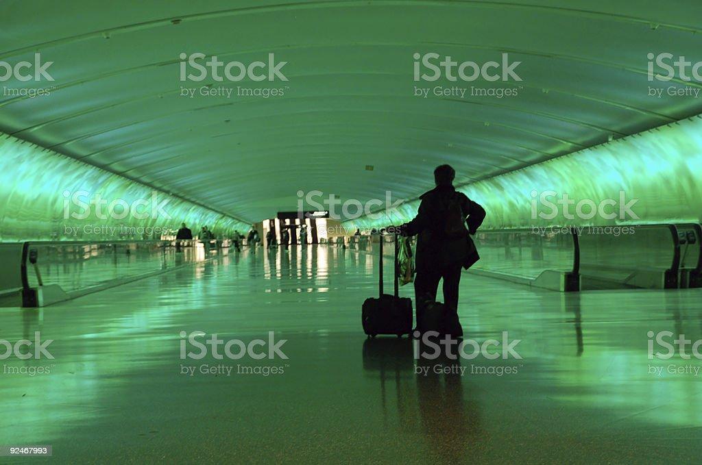 Lonely Traveler stock photo