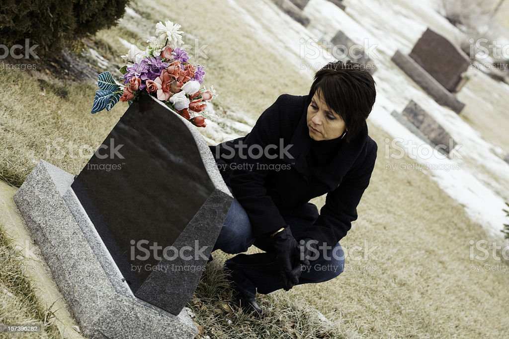 Lonely Widow royalty-free stock photo