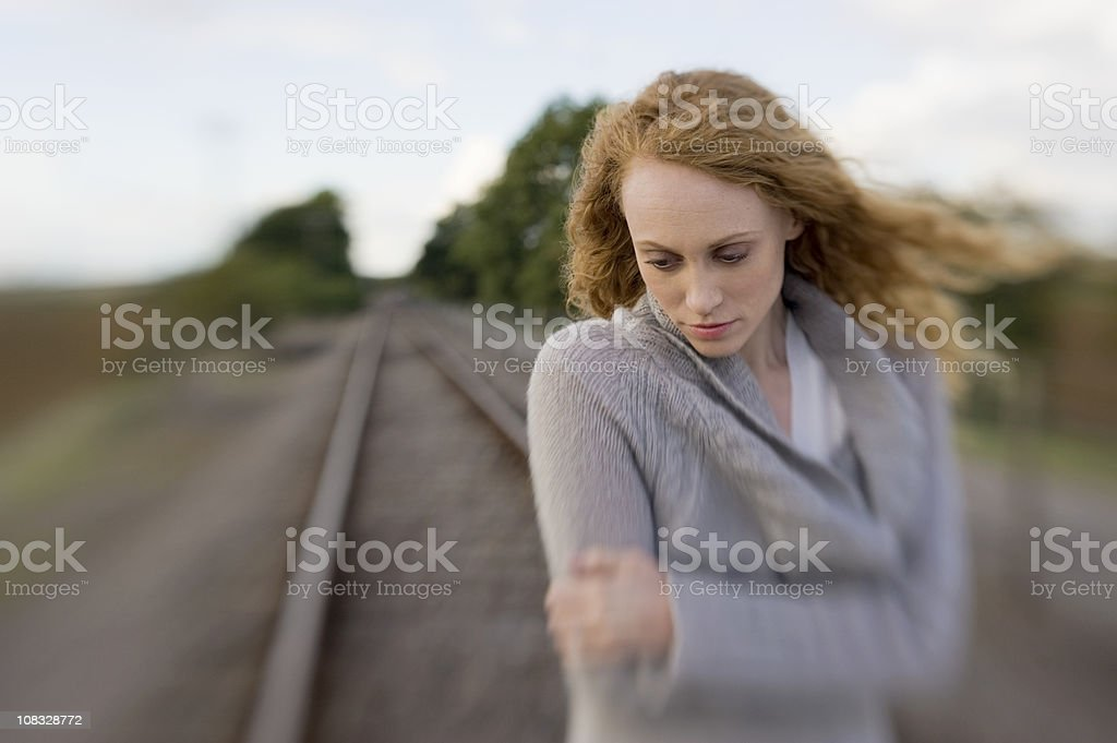 Lonely Woman royalty-free stock photo
