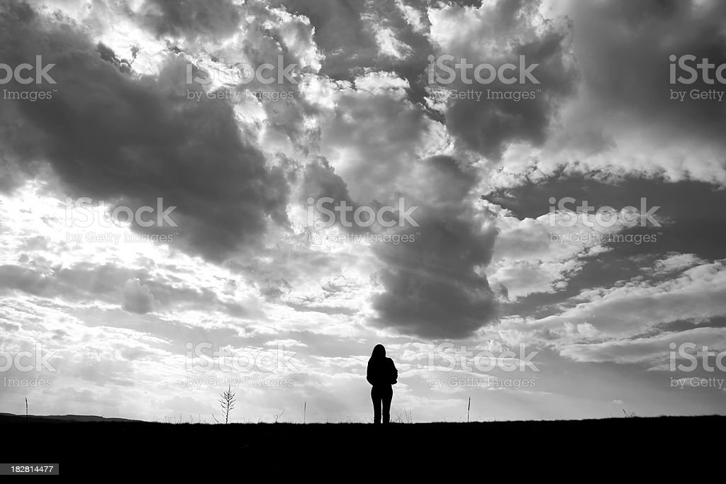 Lonely women royalty-free stock photo