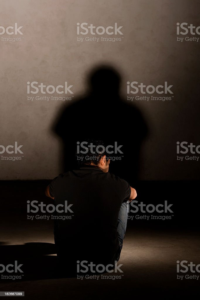Lonely  young man royalty-free stock photo