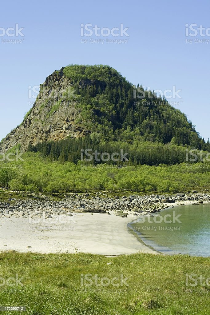 Lonesome beach in northern Norway royalty-free stock photo