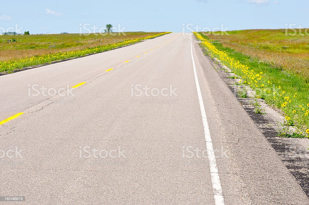 lonesome highway royalty-free stock photo