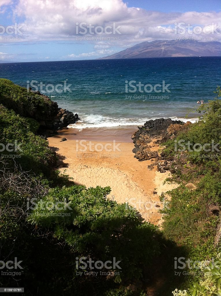 lonesome spot on the Beach/ einsamer Strandfleck stock photo