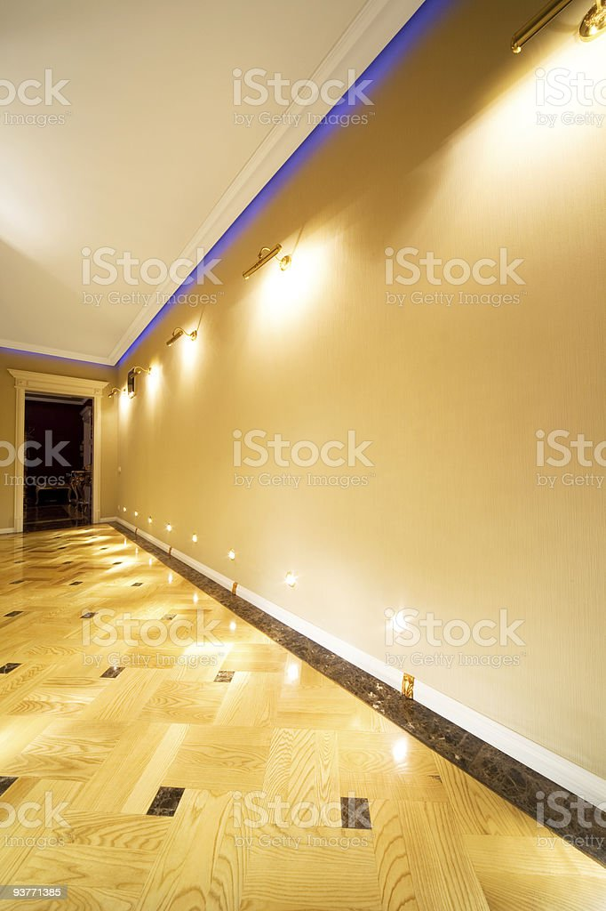 long and beautiful corridor stock photo