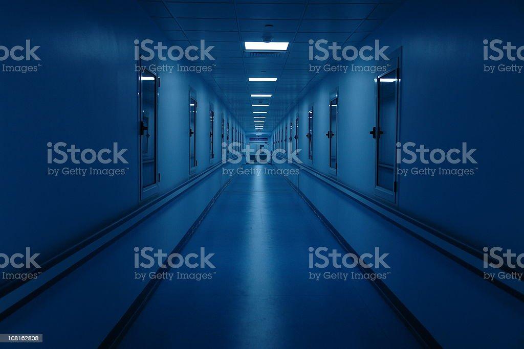 Long and Dark Hospital Hallway royalty-free stock photo