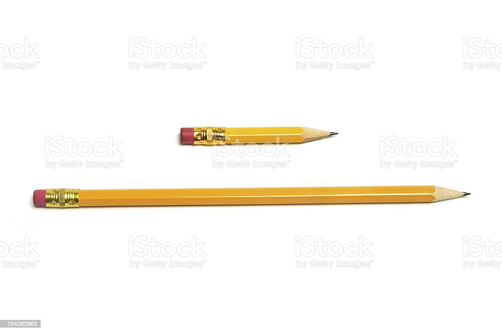 Long and Short Pencils stock photo