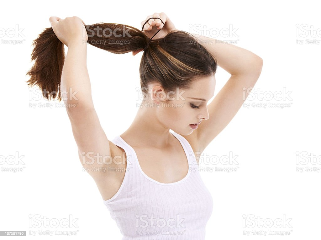 Long and strong stock photo