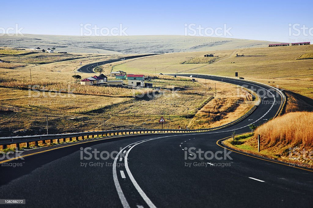 Long and winding road royalty-free stock photo