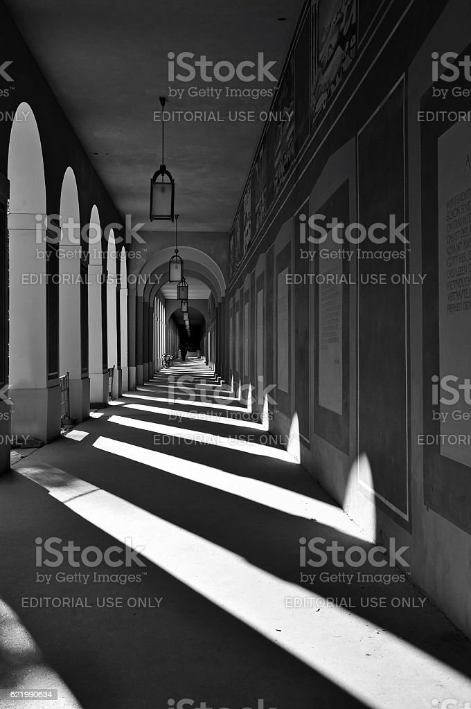 Long Arcade in Munich, Germany. stock photo
