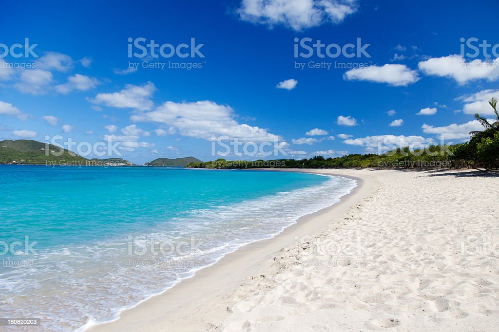 Long Bay and Beef Island in the background, Tortola, BVI stock photo