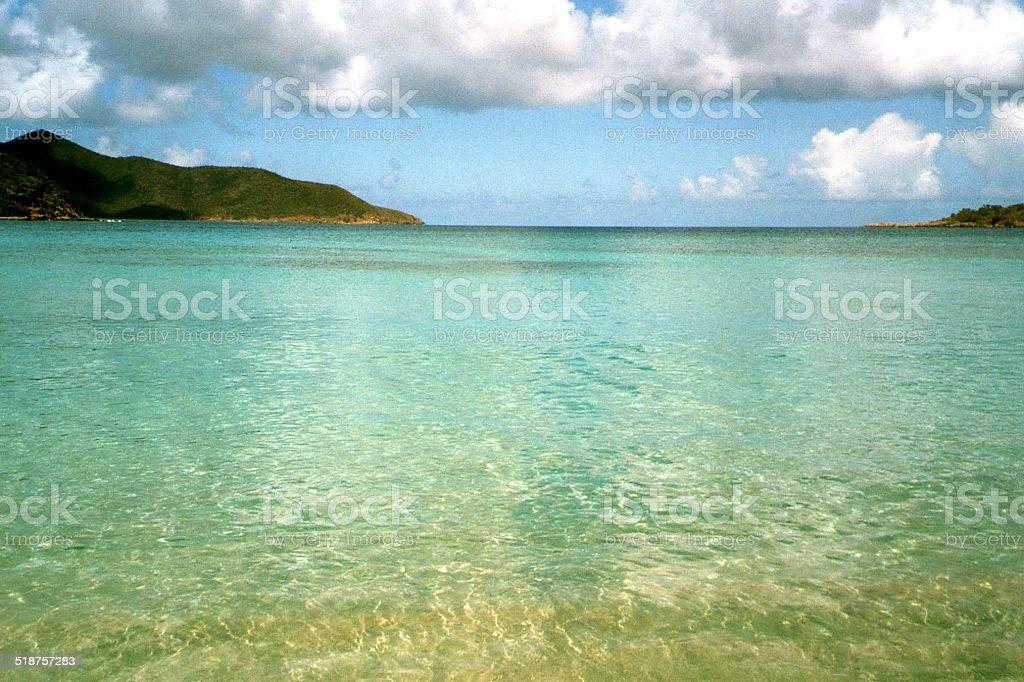 Long Bay at Beef Island, British Virgin Islands stock photo