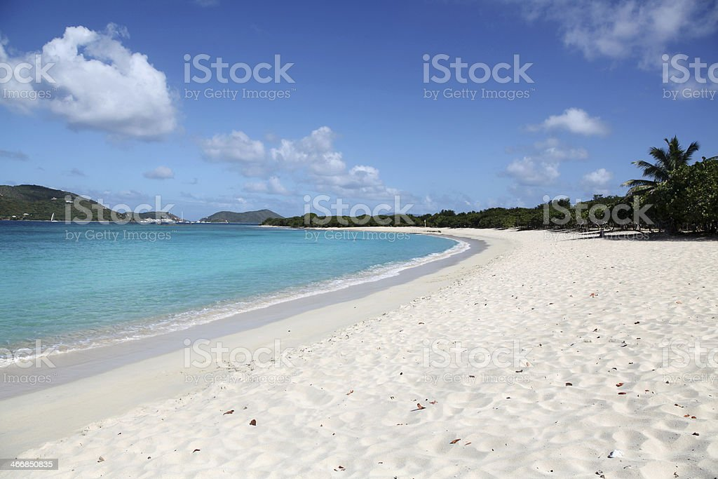 Long Bay Beach in Tortola stock photo