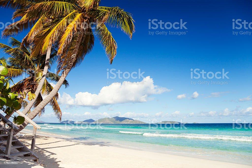 Long Bay, Tortola, British Virgin Islands stock photo