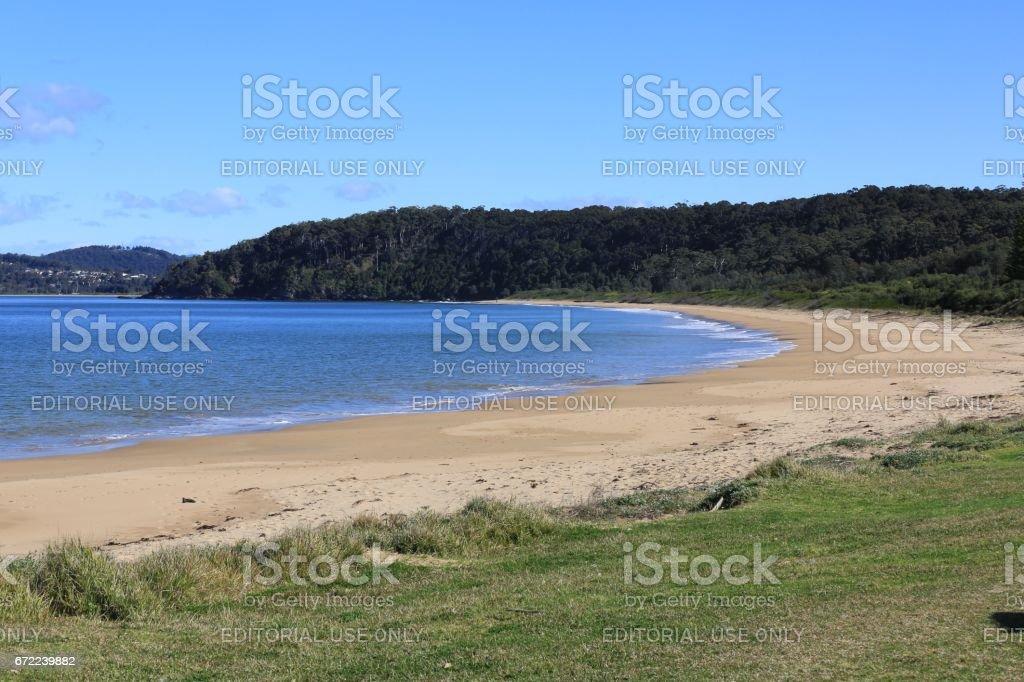 Long Beach, Batemans Bay NSW stock photo