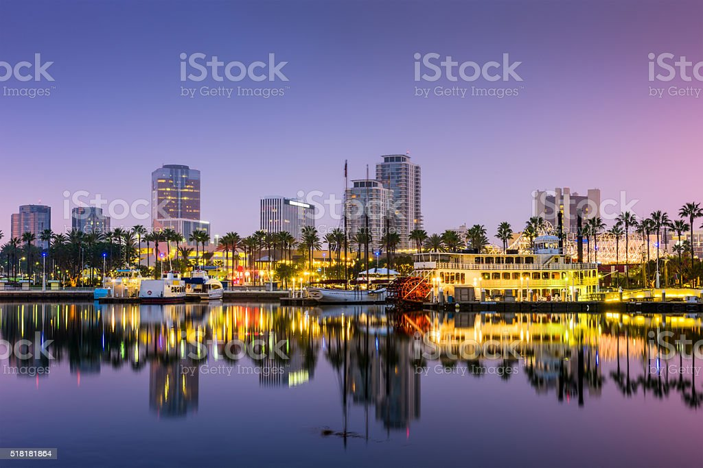 Long Beach California stock photo