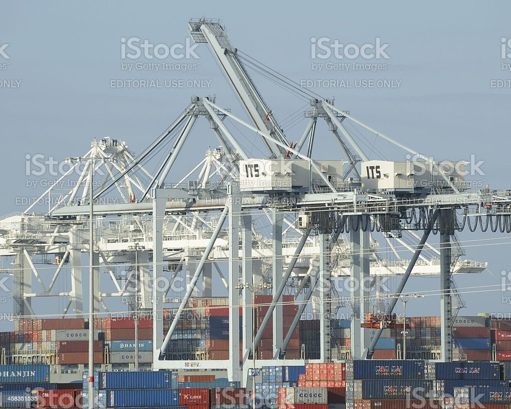 Long Beach Container Port royalty-free stock photo