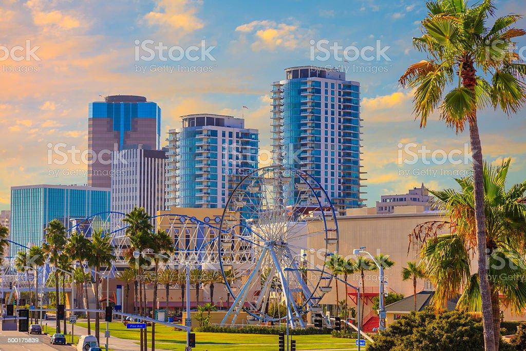 Long Beach downtown, CA stock photo