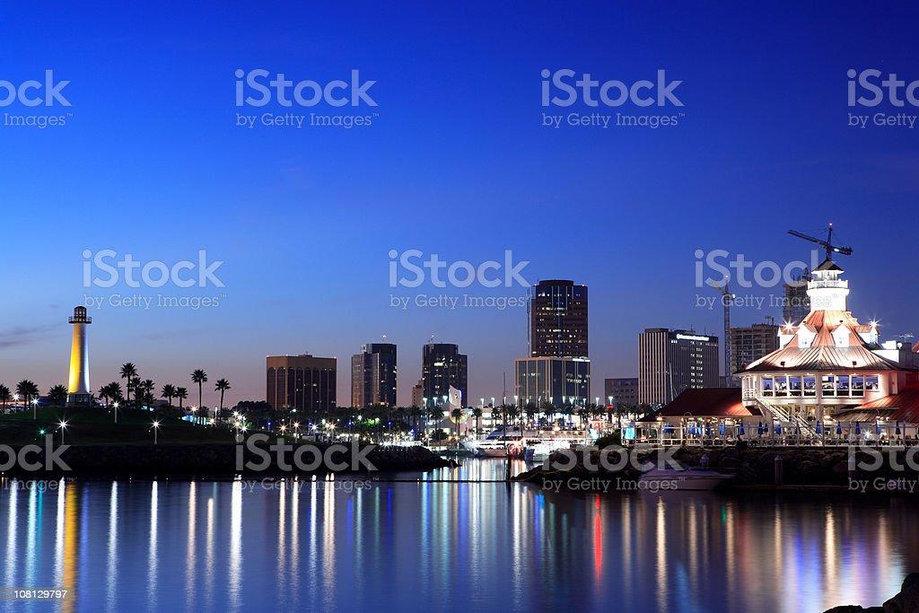 Long Beach Harbor royalty-free stock photo