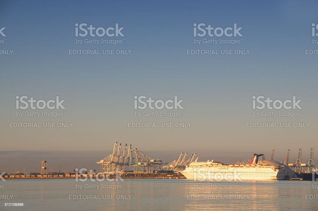Long Beach Harbor stock photo